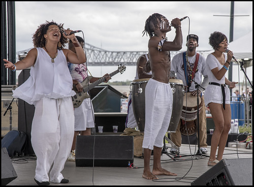 Love Evolution at Day 2 of French Quarter Festival - 4.13.18. Photo by Marc PoKempner.