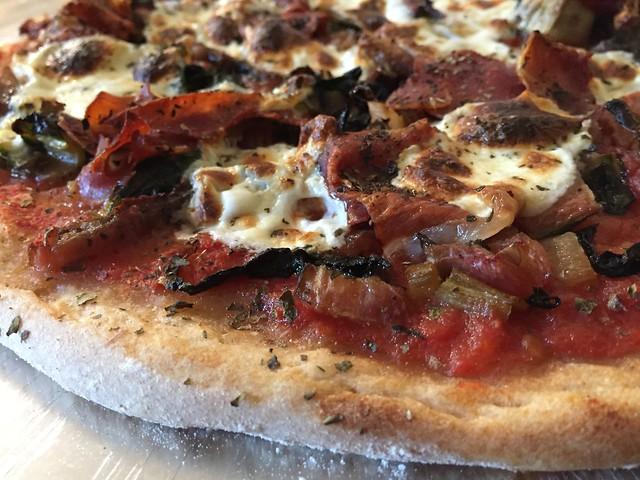Swiss Chard / Prosciutto Pizza