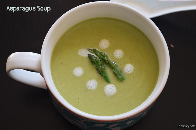 Asparagus Soup Recipe by GoSpicy.net