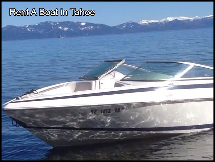 Rent A Boat in Tahoe