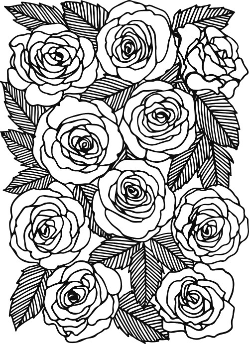 Papercut Rose Template