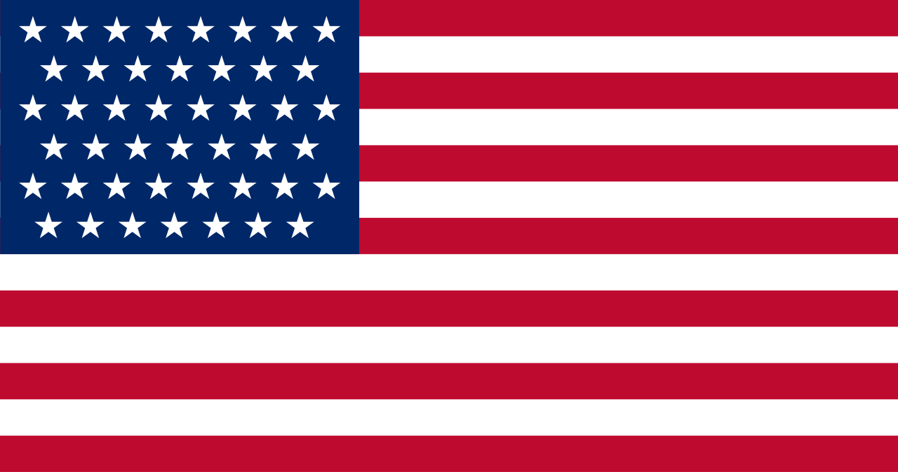 United States flag (1896 July 4-1908 July 3) - 45 stars