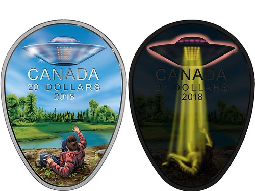 Canada UFO coin