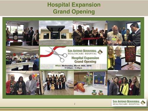 San Antonio Behavioral- Hospital Expansion Grand Opening