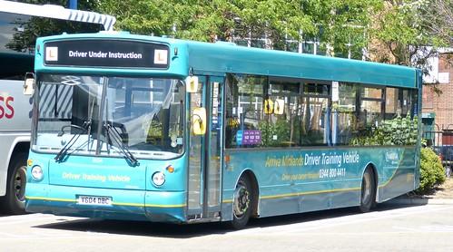 V604 DBC 'Arriva Midlands' No. 9504 'Driver Trainer'. Volvo B10BLE / Alexander ALX 300 on 'Dennis Basford's railsroadsrunways.blogspot.co.uk'
