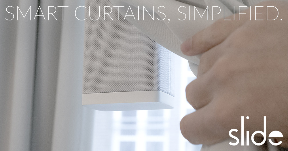 slide make your existing curtains smart indiegogo