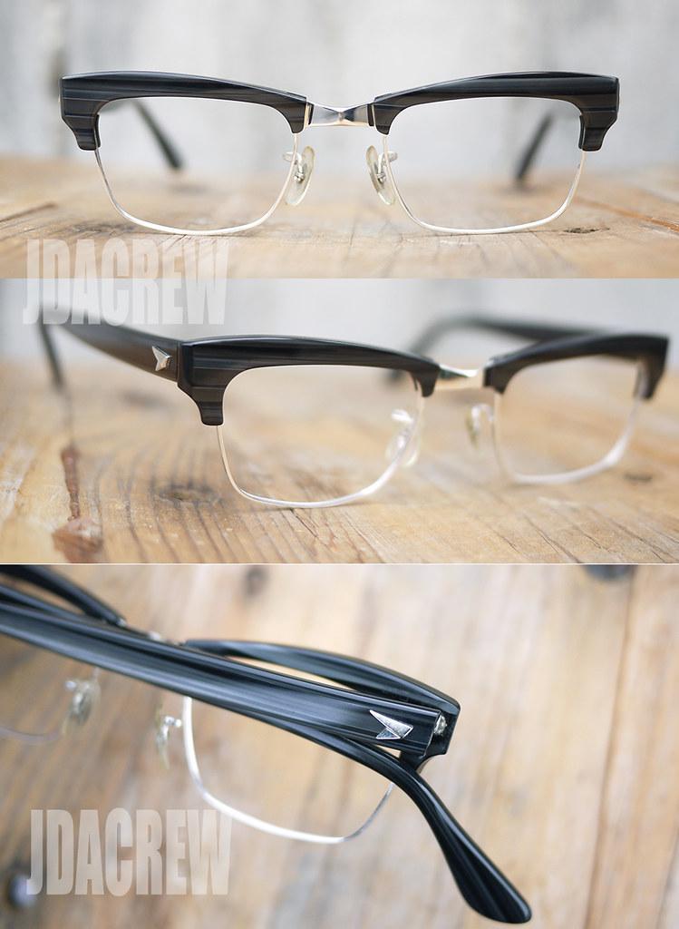 B&Lボシュロムビンテージ眼鏡黒縁ゴールド