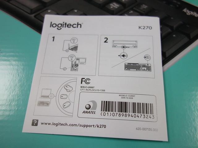說明書@羅技Logitech K270無線鍵盤