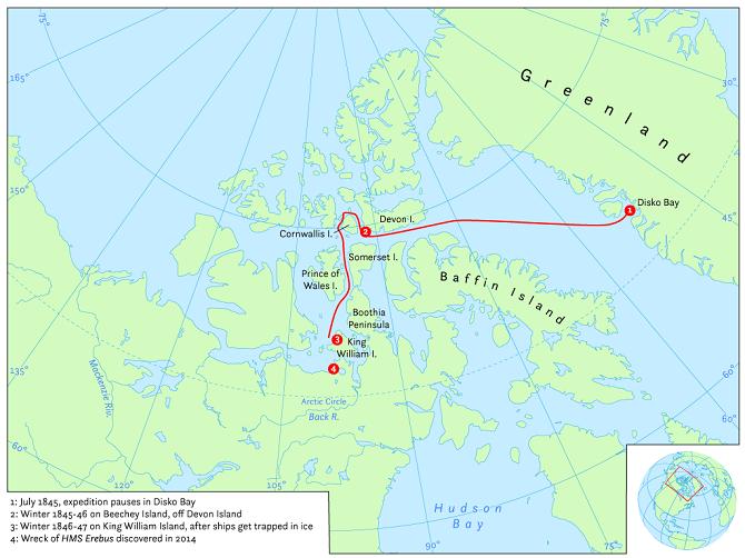 Az expedíció útvonala (kép forrása: Wikipédia)