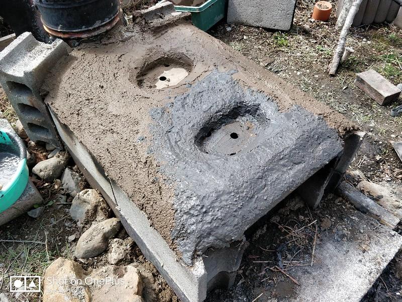 DIY かまどづくり (9)