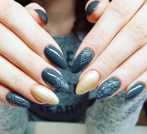 Nail Polish For Dark Hands: 97+ Dark Nails 2018 Trends From Instagram