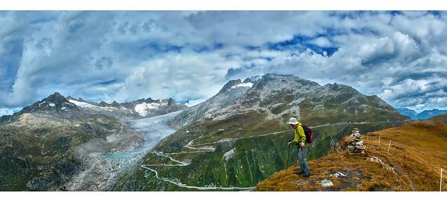 Furkapass and the Rhône Glacier  panorama . Izakigur 08.09.14, 11:56:39 .