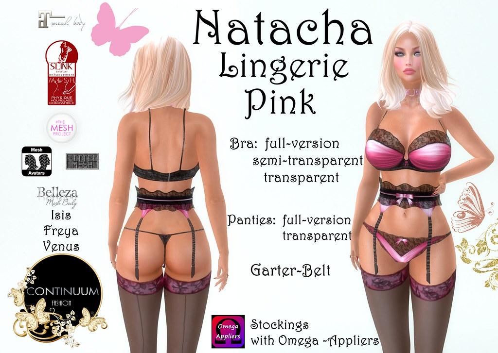 Continuum Natacha Lingerie Pink - TeleportHub.com Live!