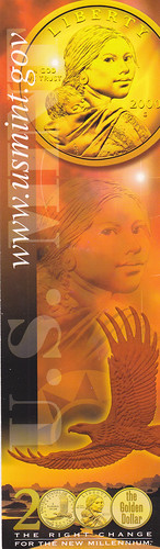 Sacajawea dollar bookmark