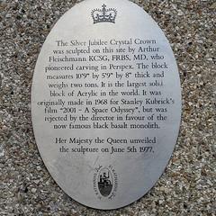 Jubilee monolith plaque