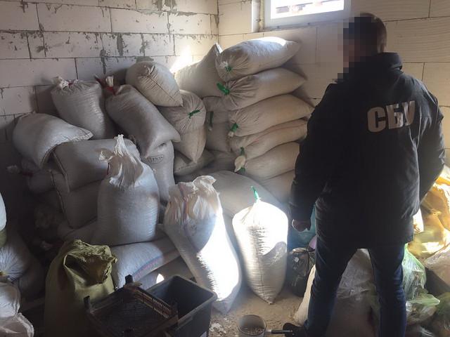 На Житомирщині СБУ вилучила понад три тонни бурштину-сирцю