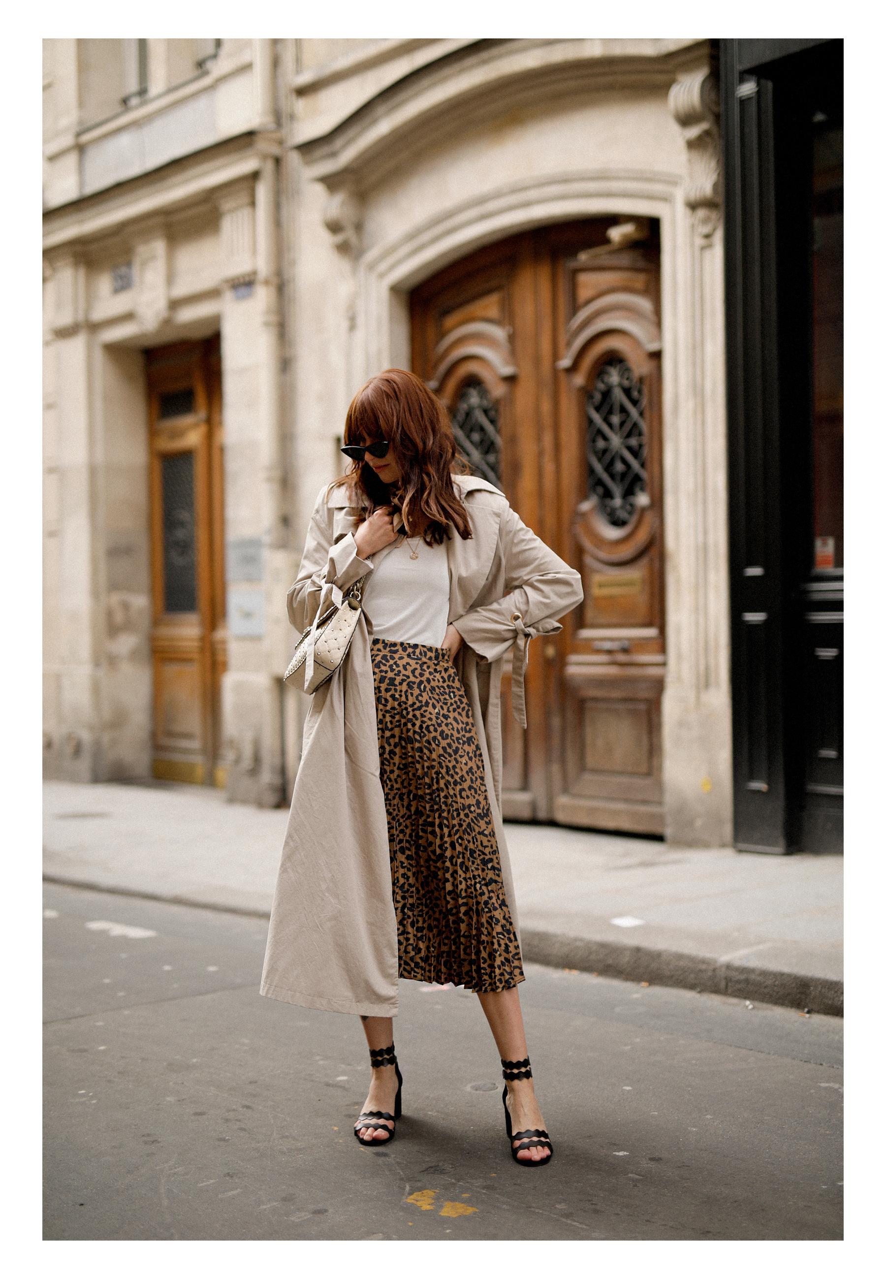 paris love mon amour mint&berry leopard print skirt trench coat valentino rockstud breuninger catsanddogsblog modeblogger styleblog modeblog outfitblog parisienne styliste cats&dogs max bechmann fotografie film düsseldorf 6