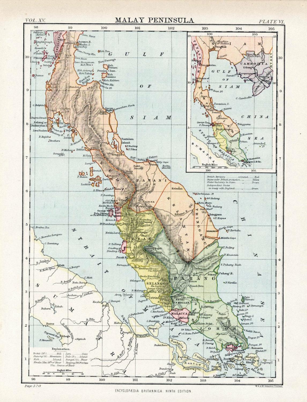 Map of the Malay Peninsula