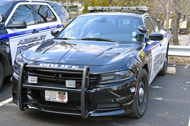 Picture Of Village Of Ardsley New York Police Department Car # 98 - 2017 Dodge Charger. Photo Taken Sunday April 8, 2018