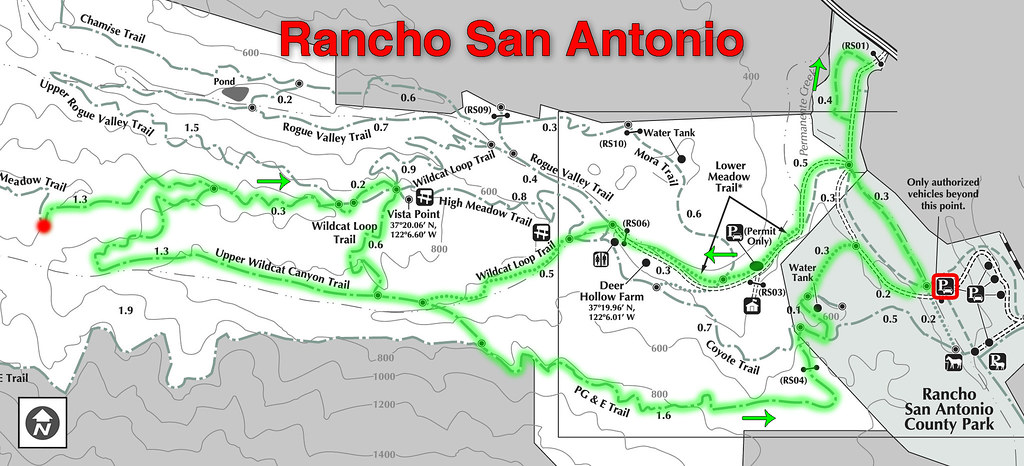 Hike Map - Rancho San Antonio   The official hike was called…   Flickr