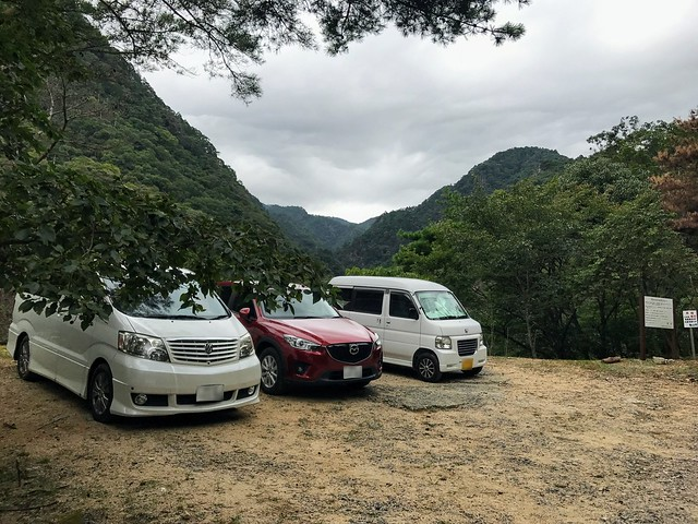 仙ヶ岳 白糸の滝・三ツ淵 駐車場