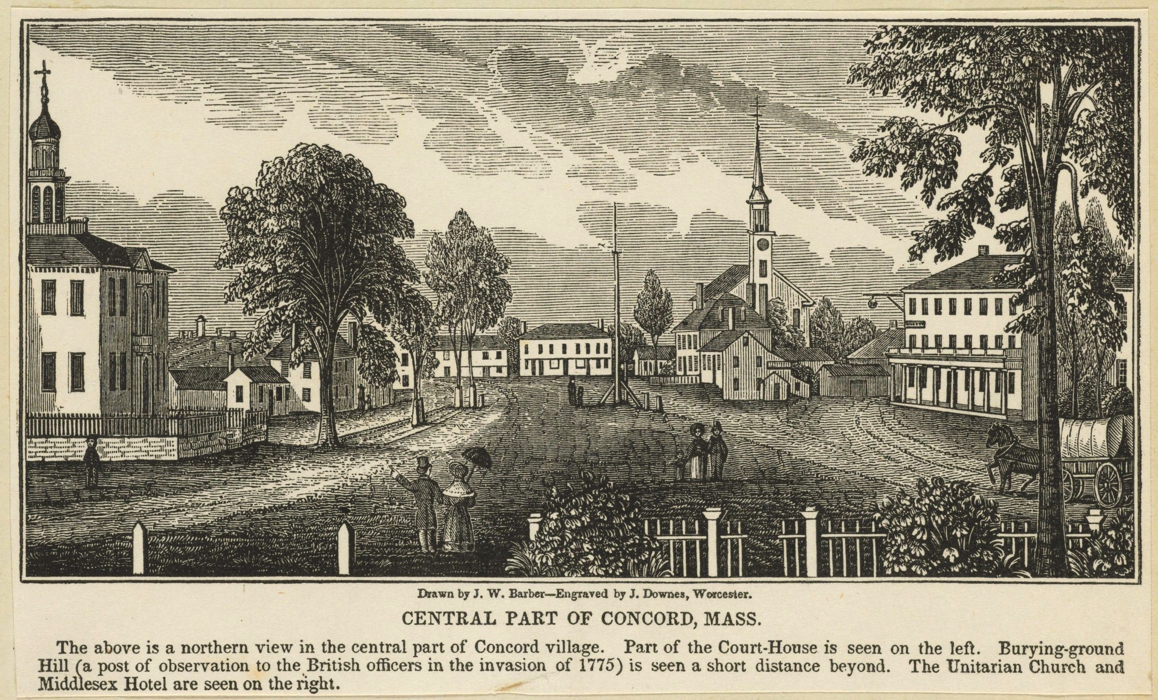 The central part of Concord, Massachusetts, 1775.