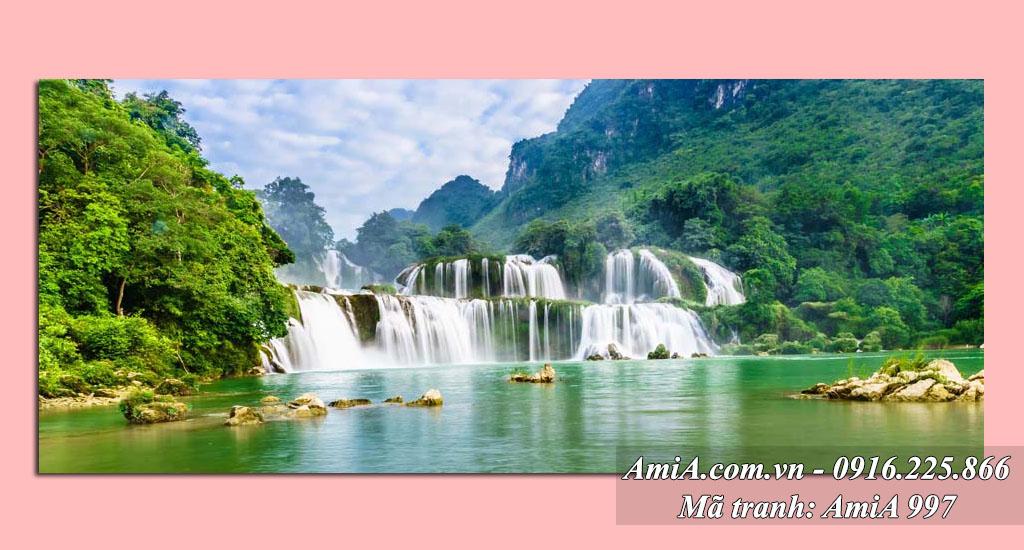 AmiA 997 - Tranh phong cảnh quê hương thác nước Bản Giốc