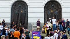 Marielle 180315 003 Cinelândia escadaria Câmara Municipal portões de ferro povo