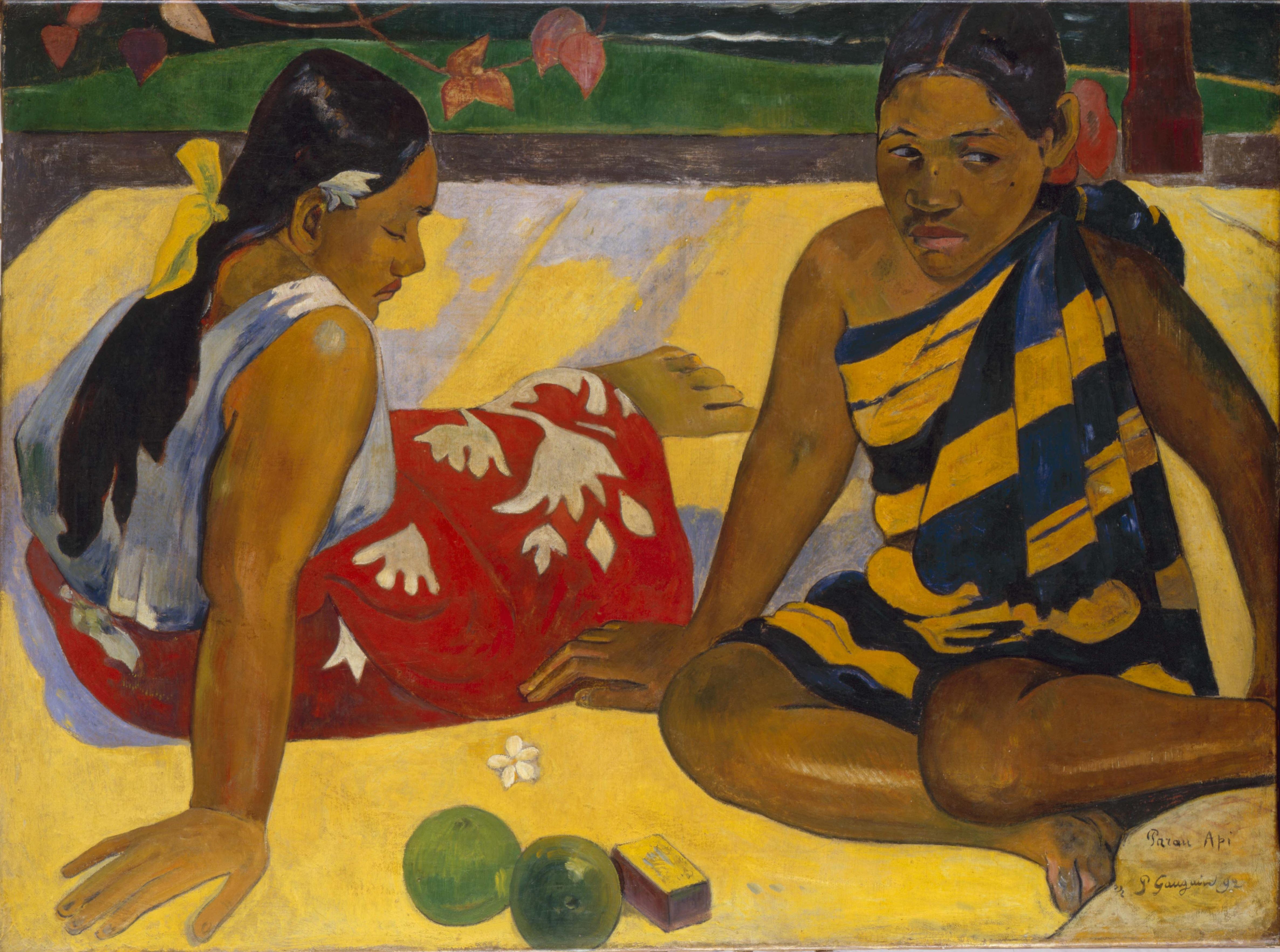 Parau Api by Paul Gauguin, 1892.