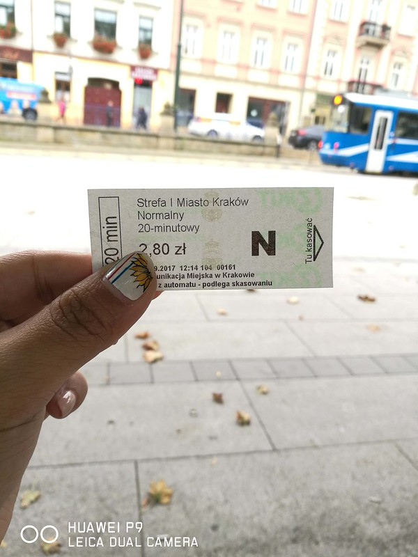 2017 Europe Krakow Tram Ticket