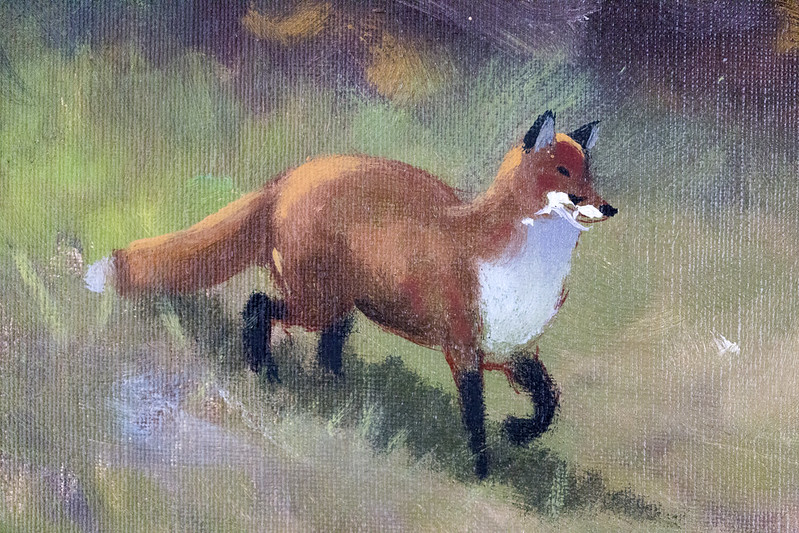 Landscape with red fox