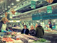 Fish Counter (Mercado Central - Valencia) (Cross Process Effect) Panasonic Lumix GX8 & Panasonic 14mm Pancake Prime