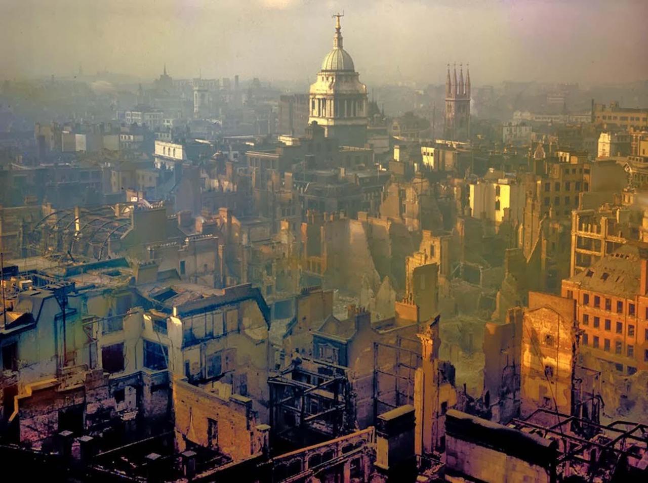 London after a German air raid, 1940