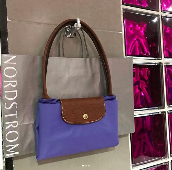 purple longchamp