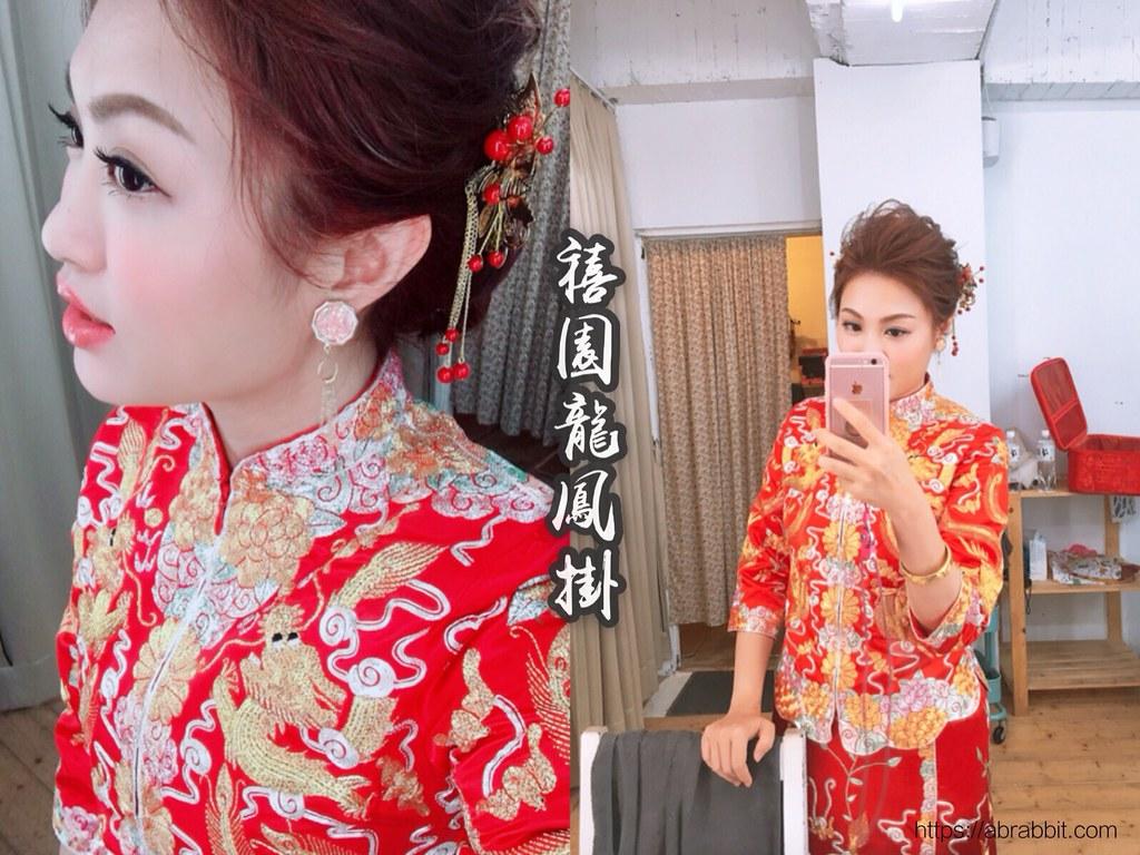 中式婚紗|台中龍鳳褂推薦:禧園龍鳳褂