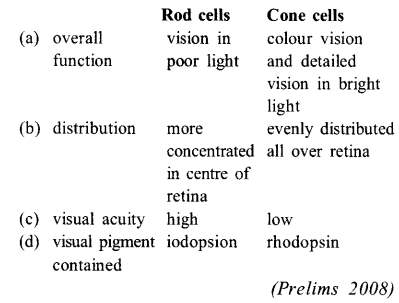 NEET AIPMT Biology Chapter Wise Solutions - Neural Control and Coordination - 22