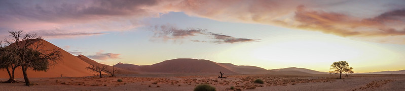 The sunset in Sossusvlei