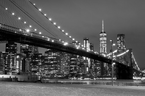 longtimeexposure blackwhite noiretblanc nb brooklynbridge bridge brooklyn newyork america nyc usa