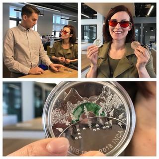 Artist with CNIB coin