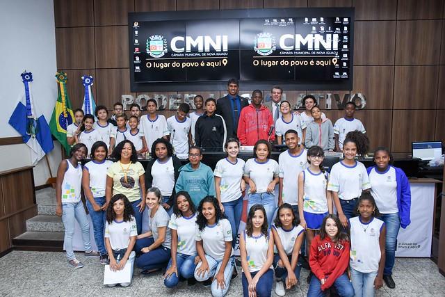 Projeto Escola no Legislativo - Educar é Lei -  Escola Municipal Janir Clementino Pereira