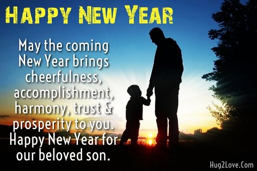 Happy New Year 2017 Wishes for Son with Images. Send New Year Messages to Son fr...