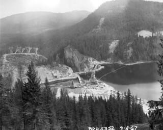 Aerial of Boundary Dam, 1967