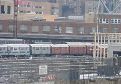 NYCT IRT Main Line R33s and R36s at 207 Street Yard