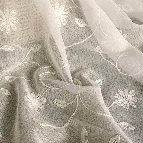 格桑梅朵 簡約繡花 展覽場裝飾佈置 新娘禮服服裝裝飾布料 DB1590034