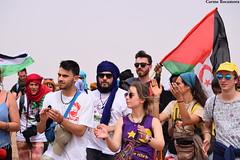 """Manifestació al """"mur de la vergonya"""""""