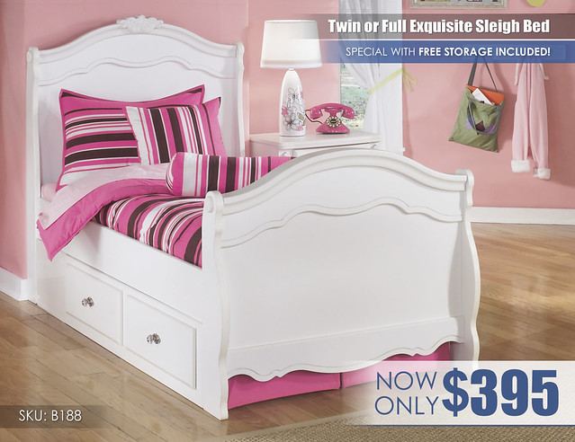 Exquisite Sleigh Storage Bed Special_B188-T-SLGH-60-SD