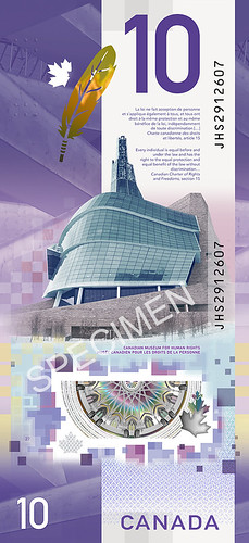 Canadian Museum for Human Rights banknote image