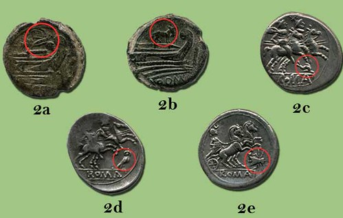 Anumals representing moneyers on Roman coins