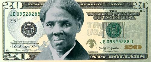 Harriet Tubman mock-up $20 note