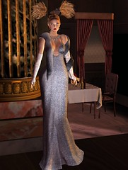 Glitter Glam Gown in Sky Letituier Sigma Hair 7